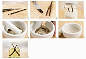 Vanilla oil, vanilla sugar and vanilla salt being made