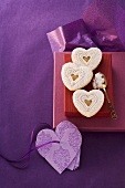 Lemon curd hearts