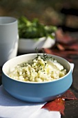 Leek risotto with thyme