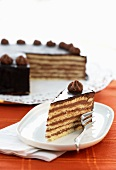 Prinzregententorte (Bavarian chocolate sponge cake)