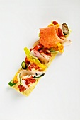 Grilled lobster with courgettes and lovage on lime mayonnaise
