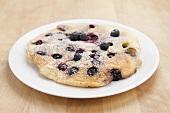 A blueberry pancake