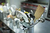 Utensils in a Commercial Kitchen