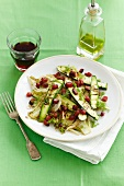 Fennel and courgette salad with diced bacon