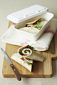 Cream cheese, pepper and herb wraps