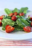 Sorrel and strawberry salad