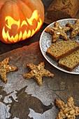 Pumpkin biscuits for Halloween