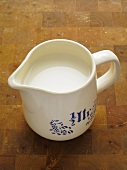 Small jug of milk