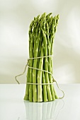 A bunch of asparagus standing up