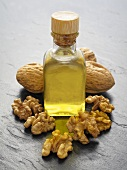 Walnut oil, walnuts and walnuts in shells