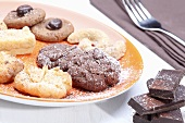 Plate of assorted biscuits