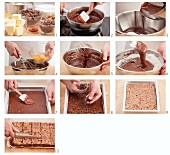 Brownies being made