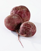 Three beetroot (beta vulgaris Variations on. rubra)