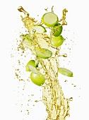 Apple slices and a splash of apple juice