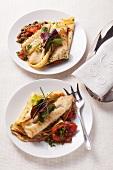 Coalfish pancakes