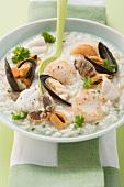 Risotto ai frutti di mare (seafood risotto)
