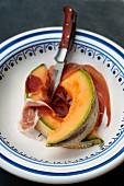 Melon and serrano ham