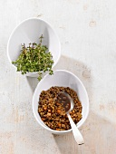 Balsamic lentils with thyme