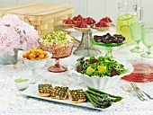 Summer Picnic Spread on a Table