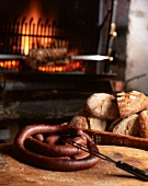 Sausage and bread (Chamonix, France)