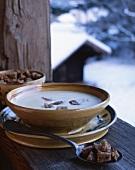 Soupe Savoyarde (cheese and potato soup with croutons, Chamonix, France)