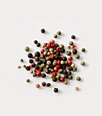 Multicoloured peppercorns