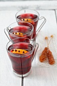 Mulled wine with oranges and cloves