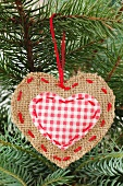 A jute Christmas tree ornament