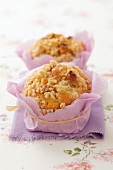 Apple muffins with walnut crumble