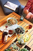 A table laid with tapas