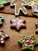 Various Christmas gingerbread biscuits