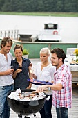 Young people at a barbecue