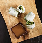 Fresh Spring Rolls with Peanut Dipping Sauce