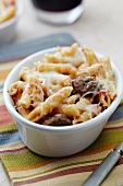 Individual Baked Penne with Meatballs