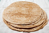 Stack of Wheat Flour Tortillas