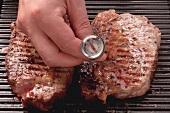 Garzustand biem Ribeye Steak messen