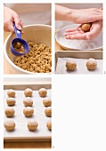 Preparing ginger snaps