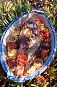 Fish with tomatoes and lemon (Corsican)