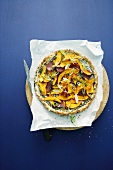 Pumpkin and poppy seed pizza