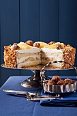 Apple and mascarpone cream layer cake