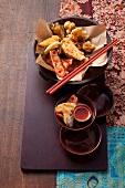 Ching-yi hsu (Taiwanese chicken and vegetable tempura)