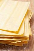 Sheets of lasagne