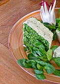 Cream cheese terrine with lamb's lettuce