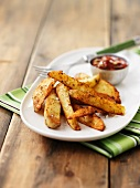 Spicy potato wedges with chipotle sauce (Mexico)