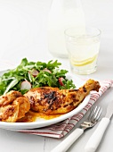 Peri peri chicken with a side salad