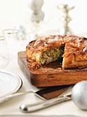 Bastilla (Moroccan puff pastry pie) with chicken