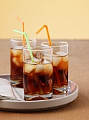 Three glasses of ice tea