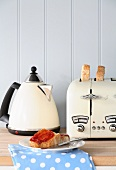 Toast and marmalade, kettle and toaster