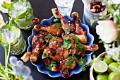Chicken legs with sweet chilli marinade