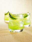 Polar vodka sour (drink with vodka & lime juice)